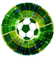 creative football design vector image vector image