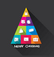 creative merry christmas tree design vector image vector image