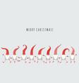 cute christmas gnomes vector image