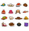 different holiday carnaval hat fashion accessory vector image vector image