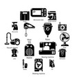 domestic appliances icons set simple style vector image vector image