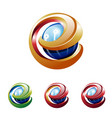 e letter initial abstract shiny ball tech logo vector image