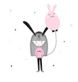 easter themed cute kids characters in cartoon vector image vector image