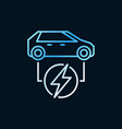 electric car colored icon all-electric car vector image vector image