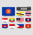 flag of asean association of southeast asian vector image vector image