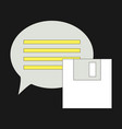 flat text message icon speech bubble symbol vector image