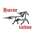 Galloping arabian horse sketch drawing vector image vector image