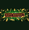 gold lettering happy birthday vector image