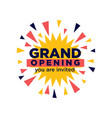 grand opening invitation minimalistic vector image vector image