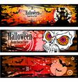 halloweenBanners2b vector image vector image