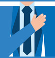 hand in chest symbol vector image