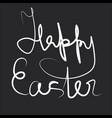 happy easter white drawing abstract sign vector image