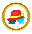 Helmet of firefighter icon vector image vector image