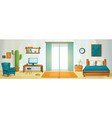 interior room concept background cartoon style vector image