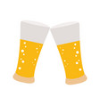 isolated beer glasses vector image vector image