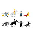 journey to west characters in flat on white vector image vector image