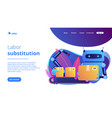 labor substitution concept landing page vector image vector image
