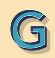 letter g retro text style fonts concept vector image vector image