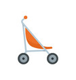 little pram icon flat style vector image vector image