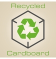 Logo recycled cardboard vector image vector image