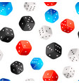 lot realistic casino dices bright seamless vector image vector image