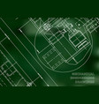 mechanical engineering drawing blueprints vector image