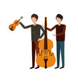 men with musical instruments character vector image vector image