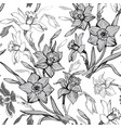 monochrome botanical seamless pattern with hand vector image vector image