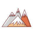 mountains icon cartoon style vector image vector image