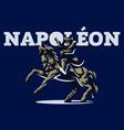 napoleon on horseback vector image vector image
