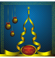 new year card with golden christmas and christmas vector image
