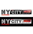 ny city brooklyn typography design vector image vector image