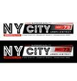 Ny city brooklyn typography design