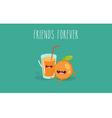 orang juice vector image