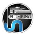 plumbing and water pipe repair symbol vector image vector image