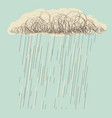 rain hand drawn dark cloud in wet day vector image