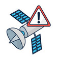 satellite with attention sign vector image vector image