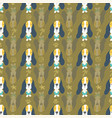 seamless pattern cute puppies and dogs in line vector image vector image