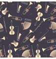 Seamless pattern with different music instruments vector image vector image
