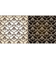 seamless vintage backgrounds black brown baroque p vector image vector image