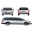 service car template vector image