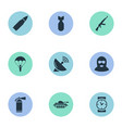 set of 9 simple battle icons can be found such vector image vector image