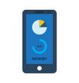 smartphone gadget memory depository vector image vector image
