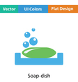Soap-dish icon vector image