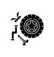 spare parts black glyph icon vector image