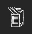 spot cooler chalk white icon on black background vector image vector image