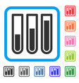 test tubes framed icon vector image vector image