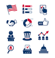 Voting and elections icons vector image vector image