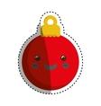 xmas decorative ball vector image