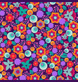 retro abstract floral print seamless vector image